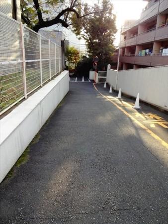 マンション恵比須苑前の道路